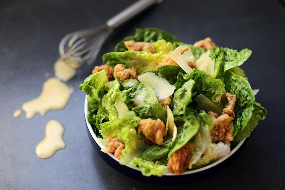 Ceasar Salad With Popcorn Chicken Ang Sarap