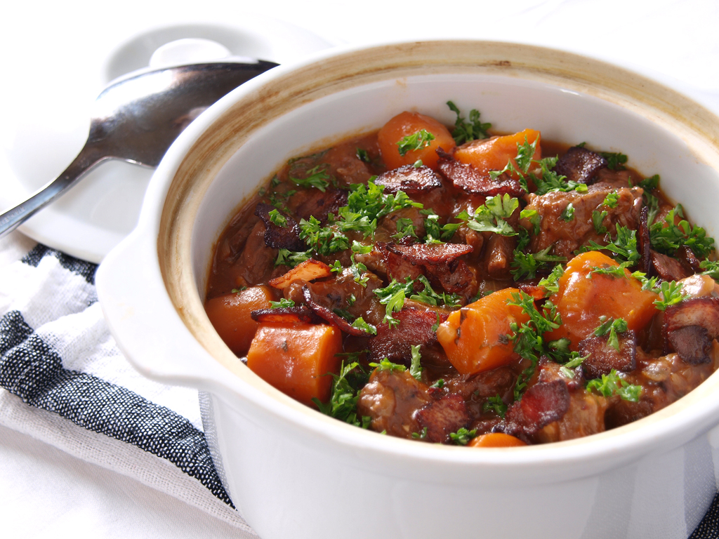 Beef and Bacon Casserole - Ang Sarap
